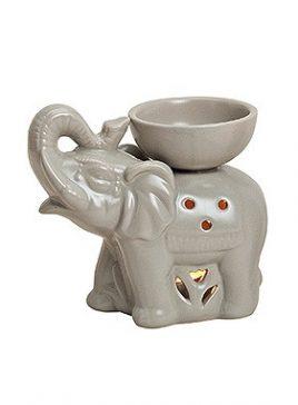 Аромалампа Слон цветная керамика 16X8X14см