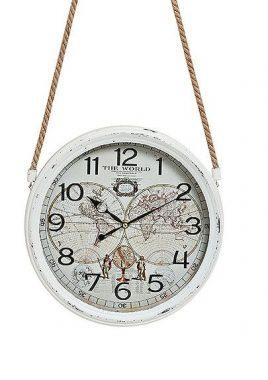 Часы настенные Винтаж металл стекло 8X30 см