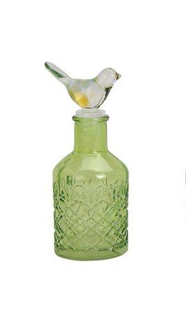 Стеклянная бутылка с крышкой 17X6см