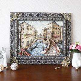 Картина рельефная Венеция мостик