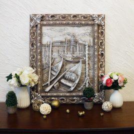 Барельеф Венеция Причал светящийся КР 907 камень светит
