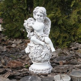 Ангел с арфой светящийся 34 см СП505-4 св