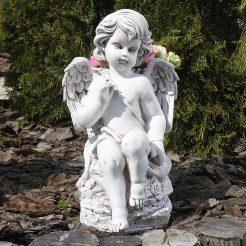 Ангел с корзиной светящийся 32 см СП507-4 св