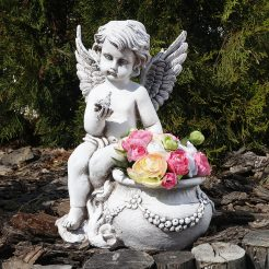Ангел кашпо светящийся 31 см