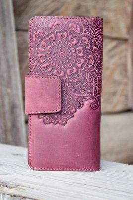Кошелёк Цветок фиолетовый 9.5*19см