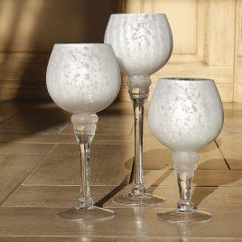 Набор подсвечников 3х серебряное стекло h20-30см 2198400