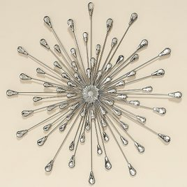 Настенный декор серебряные Брызги d70см