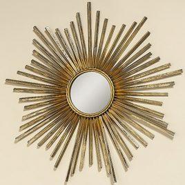 Настенный декор зеркало Звезда золото d74см 1008459