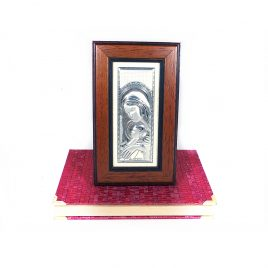 Образ Святая Мария с Иисусом в деревянной рамке 67