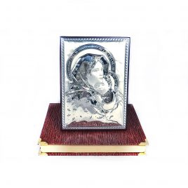 Икона Образ Святая Мария с младенцем на деревянной основе 248