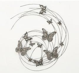 Настенный декор Бабочки h98см 4463800
