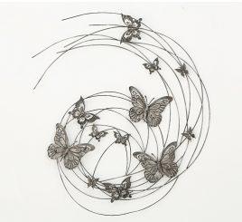 Настенный декор Бабочки h98см
