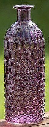 Ваза Джеси цветное стекло h20см d7см 1004891