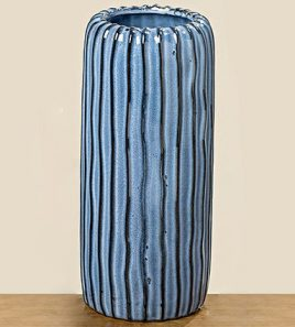 Ваза Акварель керамика синий h24см d10см 1005975