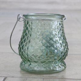 Подсвечник Витус зеленое стекло h10см 1002011