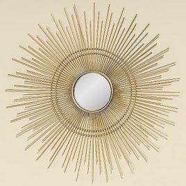 Настенный декор зеркало Вива золото d46см