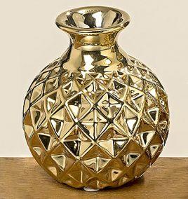 Ваза Эрик золотая керамика h9.5см d8.5см 7700200