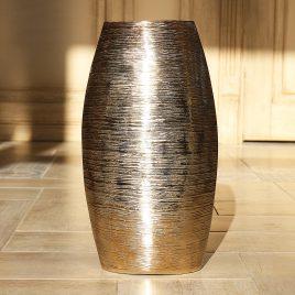 Ваза Аманди металл золото-серебро h37см 1008081