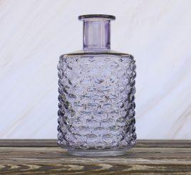 Ваза Леони сиреневое стекло h21см d12см 1004893