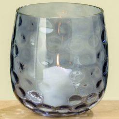 Подсвечник Индиго синее стекло h20см 1008849