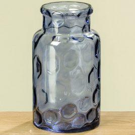 Ваза Индиго синее стекло h30см 1008850