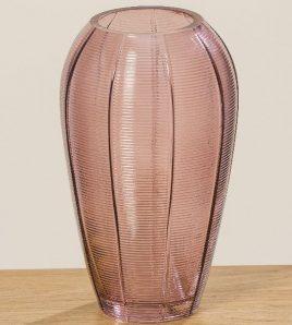 Ваза Варио фиолетовое стекло h20см 1010049
