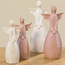 Статуэтка Ангел цветная керамика h22см