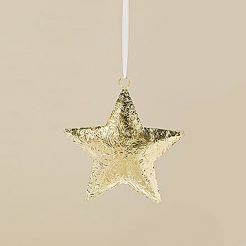 Подвесной декор золотой металл h30см 1009275