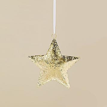 Подвесной декор золотой металл h30см Гранд Презент 1009275