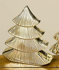 Декор ёлка золотая керамика h20см 1007286