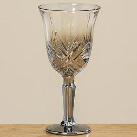 Бокал для вина Медисон серебряное стекло h16см 1008755