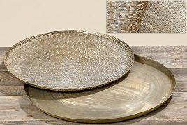 Набор подносов 2х золотой металл d50-56см 1003089
