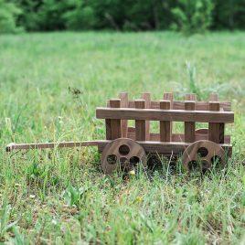 Тележка деревянная 30 см D9003