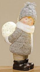 Led ночник ребенок керамика h23см 1009809