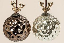 Набор новогодних шаров из 2х цветное стекло d12см 1006348