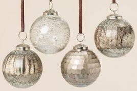 Подвесной шар набор из 4х золотое стекло d8см 1006350