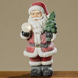 Led Санта цветная керамика h51см 1008283
