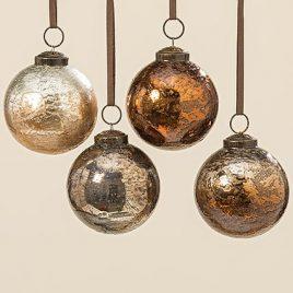 Подвесной шар набор из 4х шт медное стекло d8см 1006364