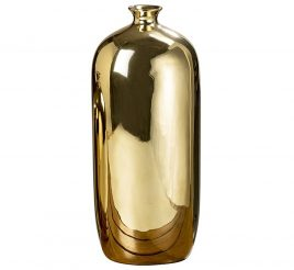 Ваза Гламур золотая керамика h35см 1005887