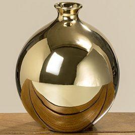 Ваза Гламур золотая керамика h18см d15см 1005888