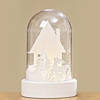 Led шар со снегом белый МДФ d7см 1008433