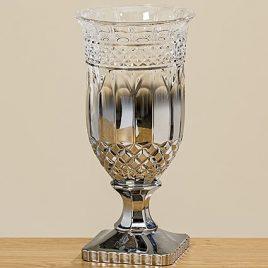 Ваза Эйден серебряное стекло h33см 1008749