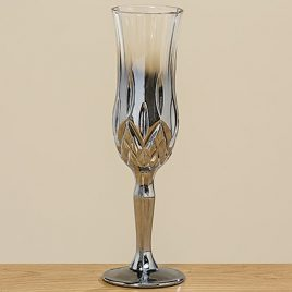 Бокал для шампанского Медисон серебряное стекло h21см 1008754
