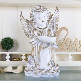 Ангел с пиалой 34 см СП502-2 золото