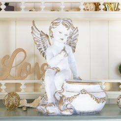 Ангел кашпо 31 см СП508-2 золото