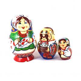 Матрёшка 3-х девочка украинка 8,5 см
