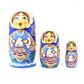 Матрёшка 3-х мальчик украинец 10 см