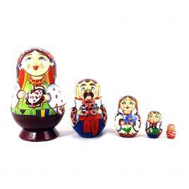 Матрёшка 5-х девочка украинка 8.5 см М-08