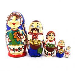 Матрёшка 5-х девочка украинка 10.5 см
