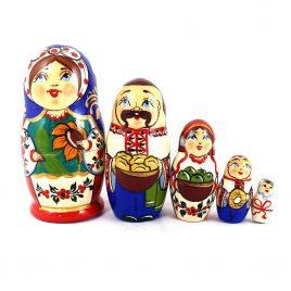 Матрёшка 5-х девочка украинка 10.5 см М-14